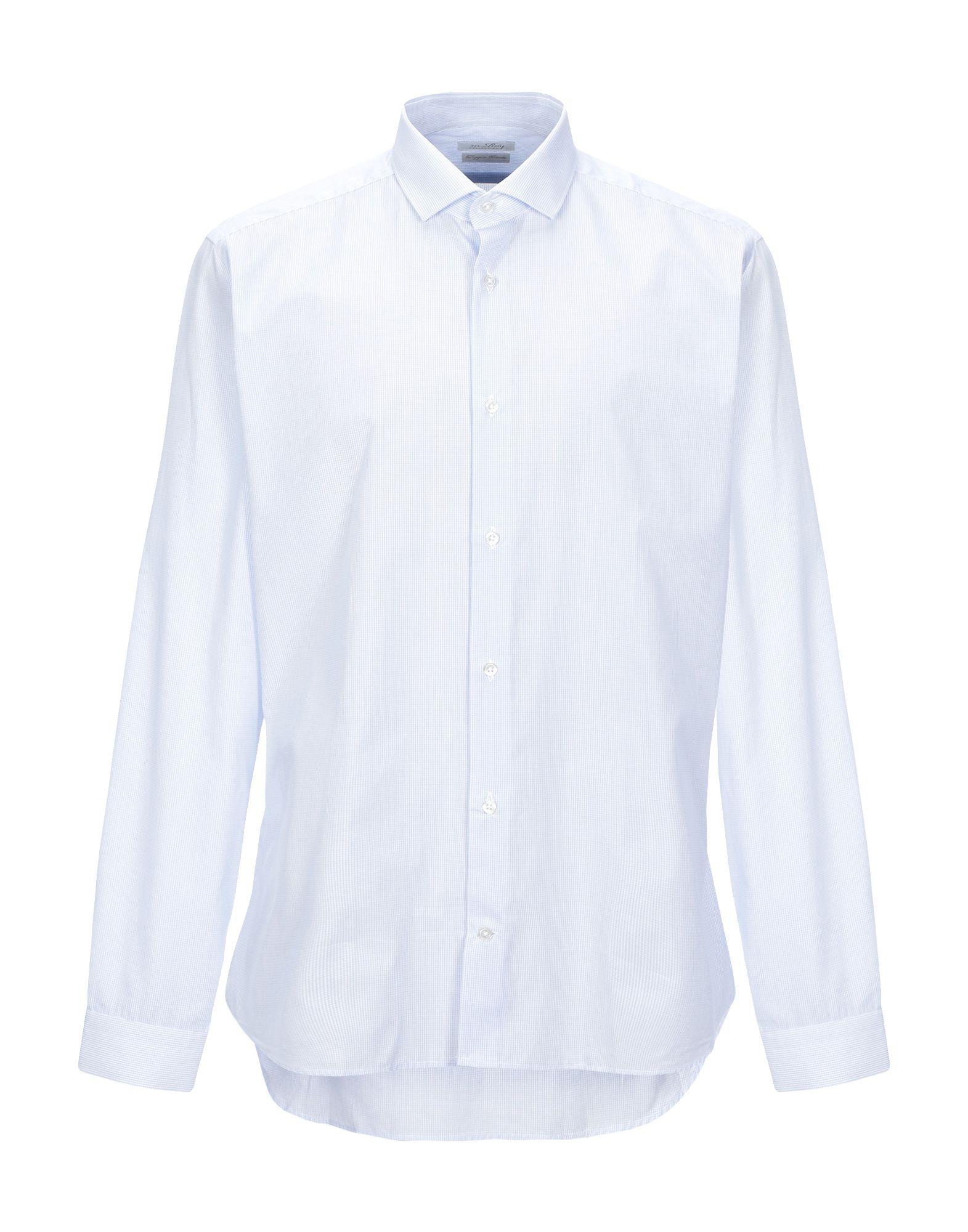《セール開催中》M.ROY メンズ シャツ スカイブルー 42 コットン 100%