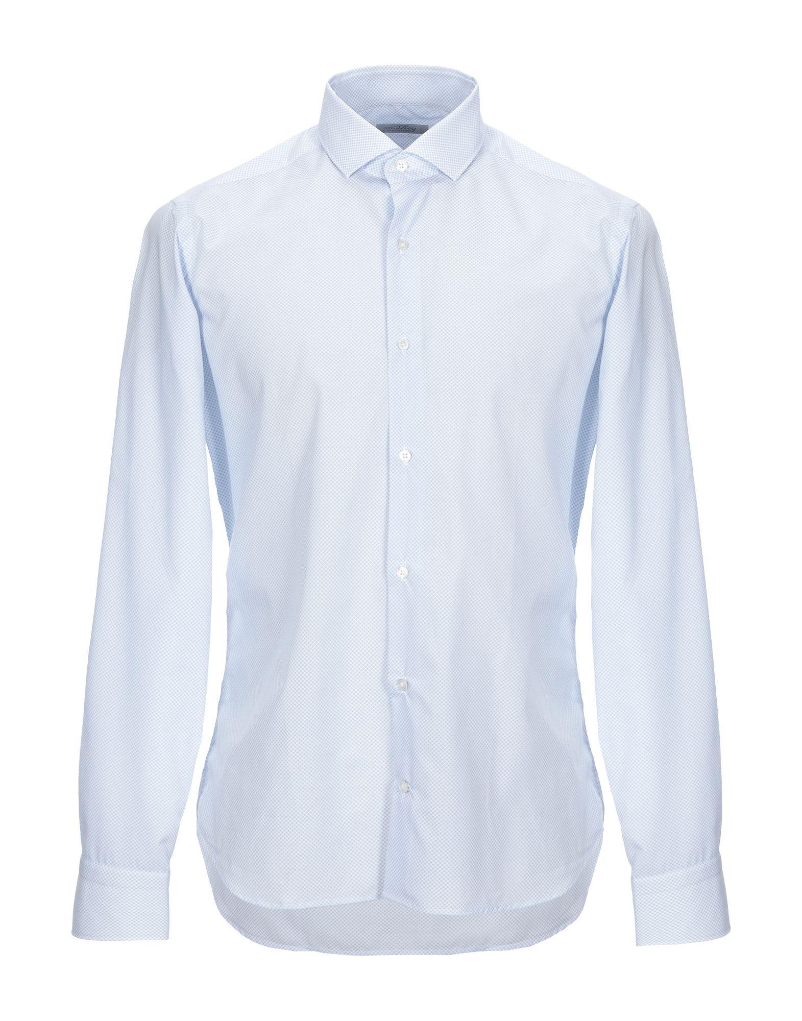 《セール開催中》M.ROY メンズ シャツ スカイブルー 40 コットン 100%