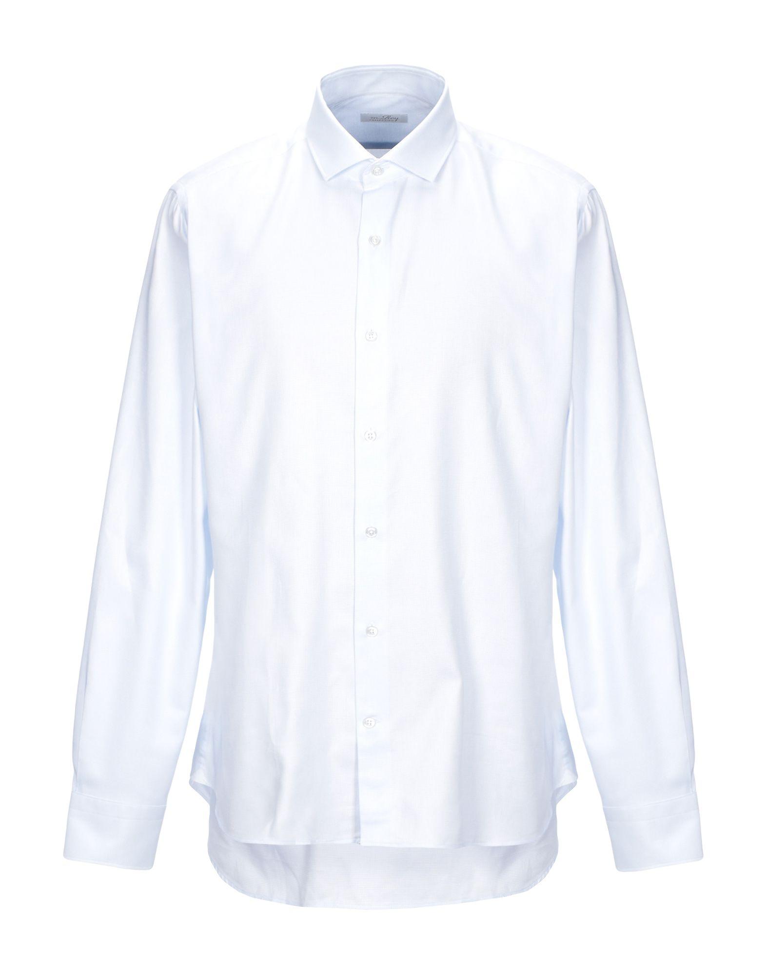 《セール開催中》M.ROY メンズ シャツ スカイブルー 43 コットン 100%