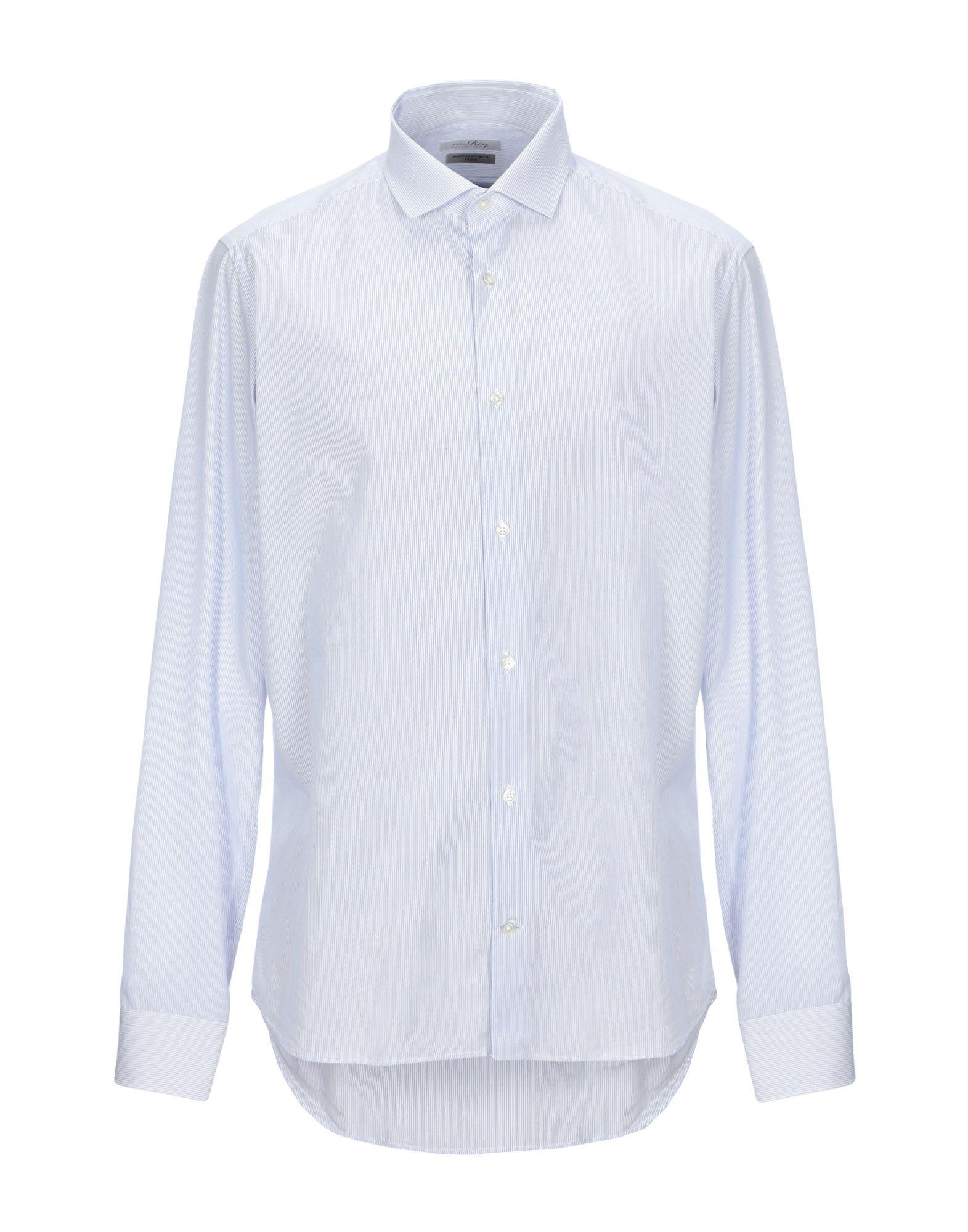 《セール開催中》M.ROY メンズ シャツ ホワイト 43 コットン 100%