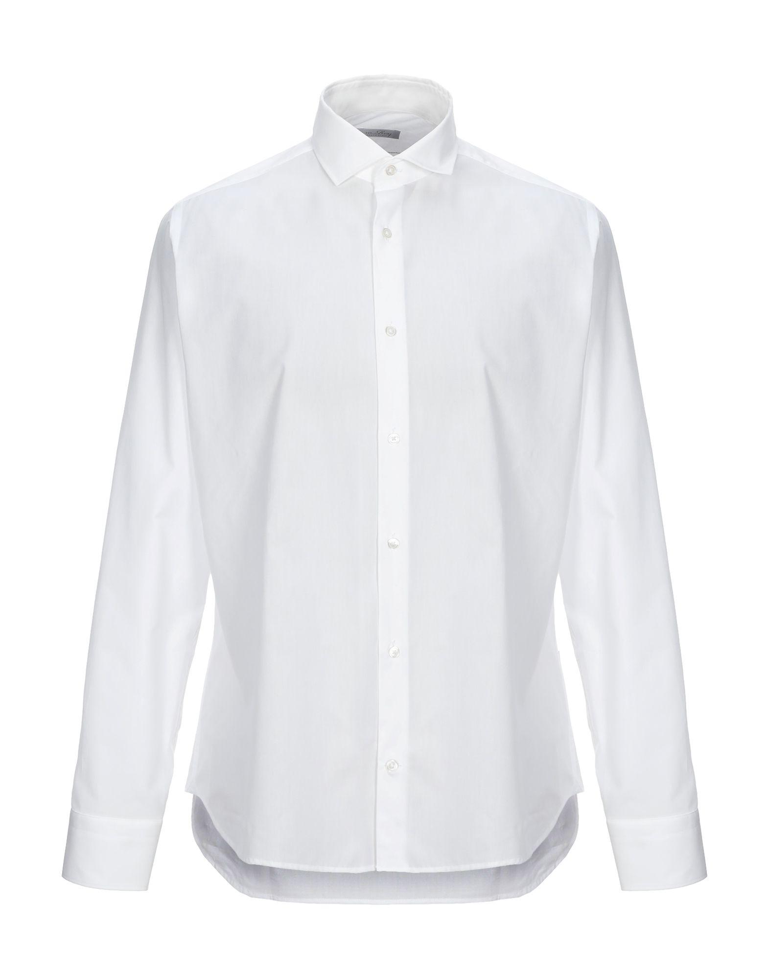《セール開催中》M.ROY メンズ シャツ ホワイト 42 コットン 100%