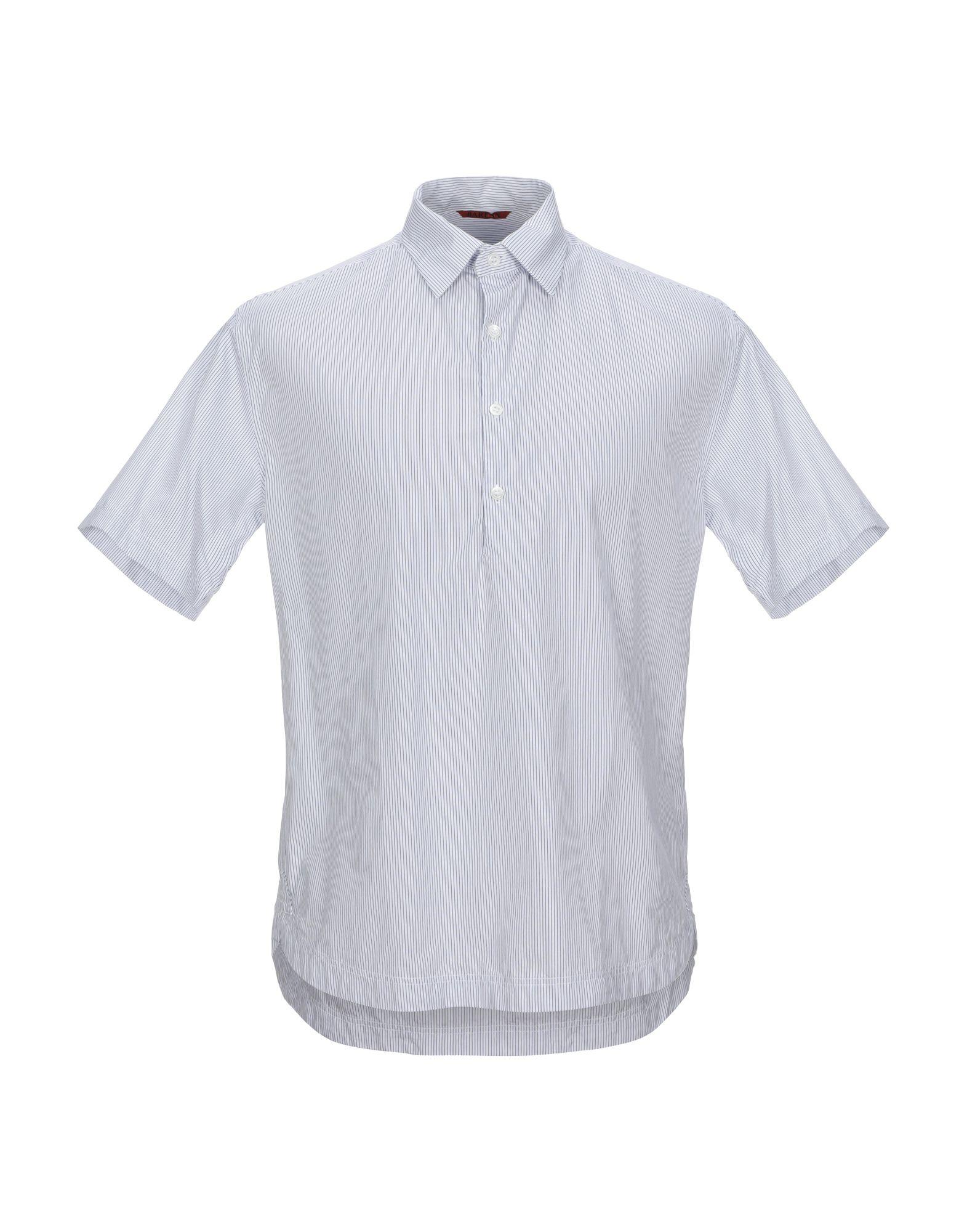 《セール開催中》BARENA メンズ シャツ ダークブルー 46 コットン 100%