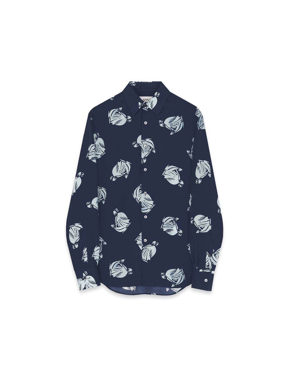 PRINTED MOTHER AND CHILD SILK SHIRT - Lanvin