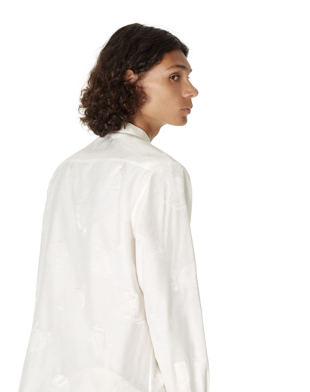 "STRAIGHT-FIT SHIRT WITH ""MOTHER AND CHILD"" PRINT - Lanvin"