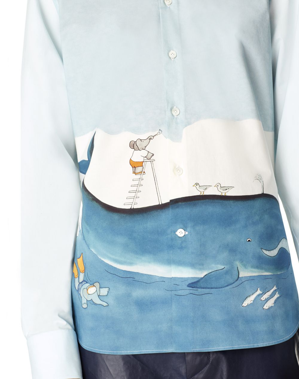 STRAIGHT-FIT SHIRT WITH BABAR PRINT - Lanvin