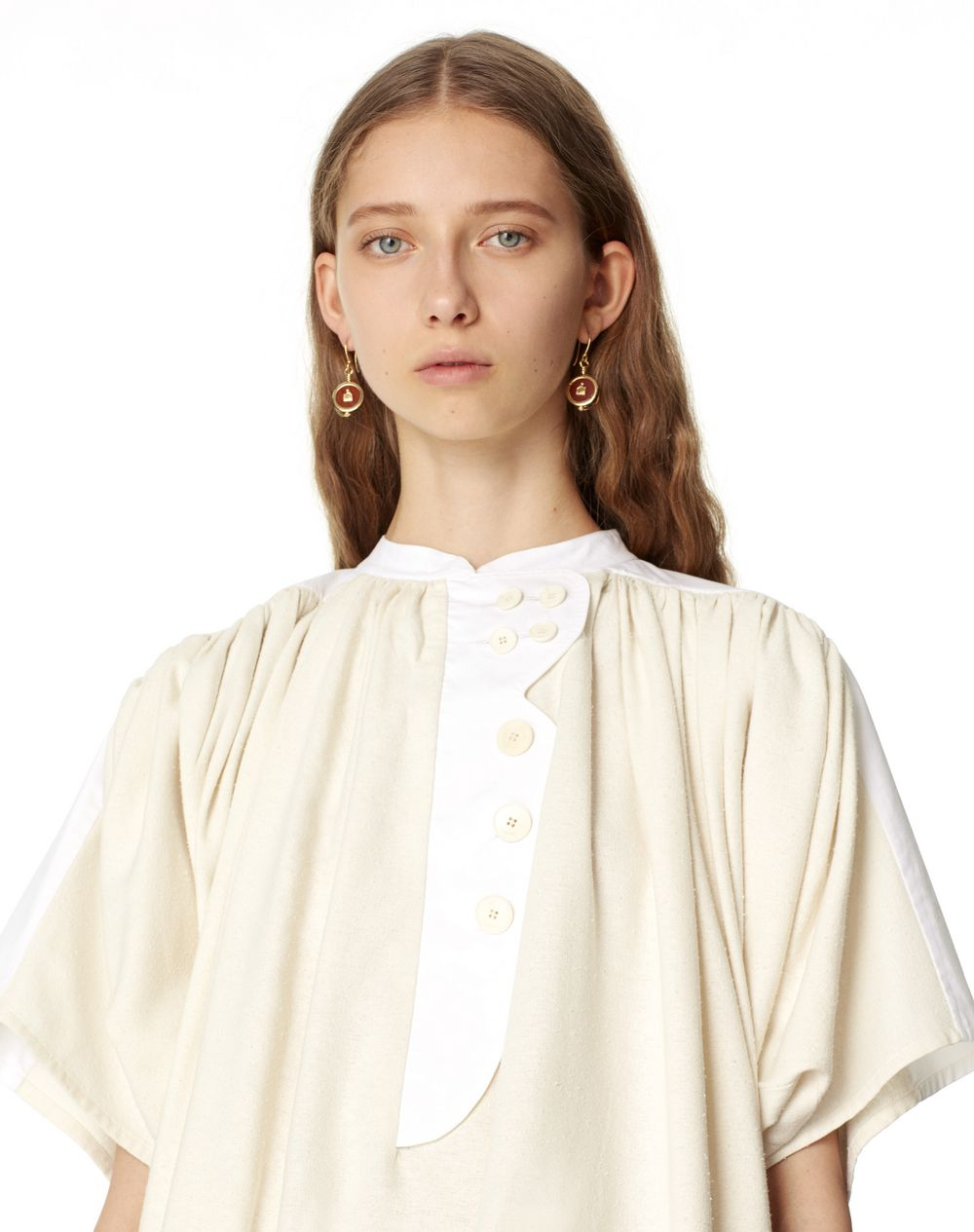 COTTON AND SILK BLOUSE  - Lanvin