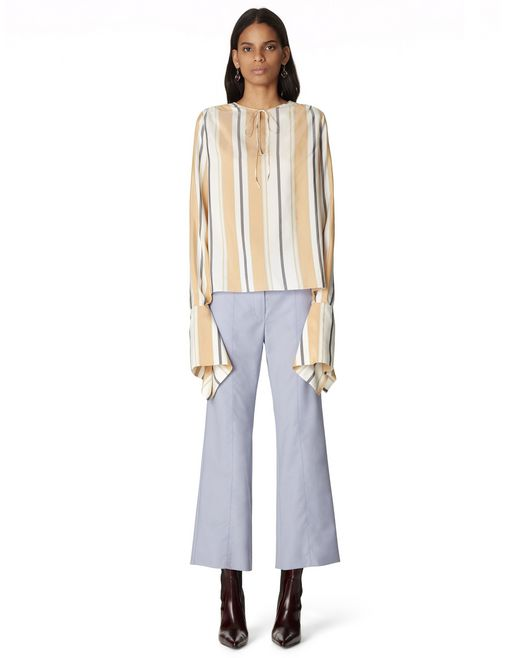 STRIPED SILK BLOUSE - Lanvin