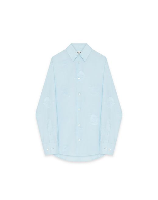 PRINTED COTTON AND SILK SHIRT - Lanvin