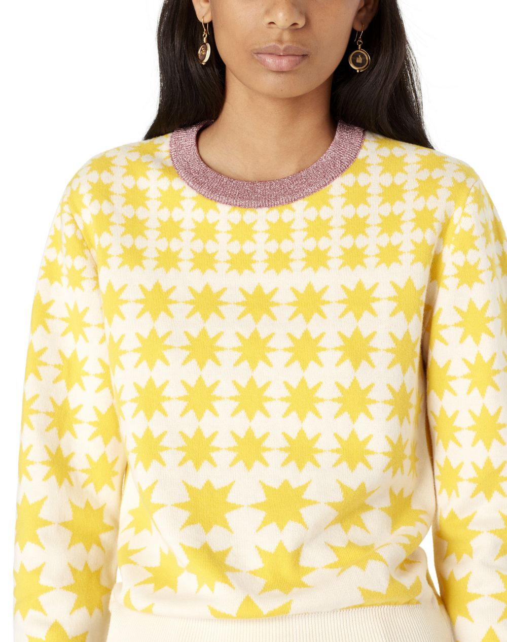 SUN-PATTERN COTTON AND WOOL SWEATER - Lanvin