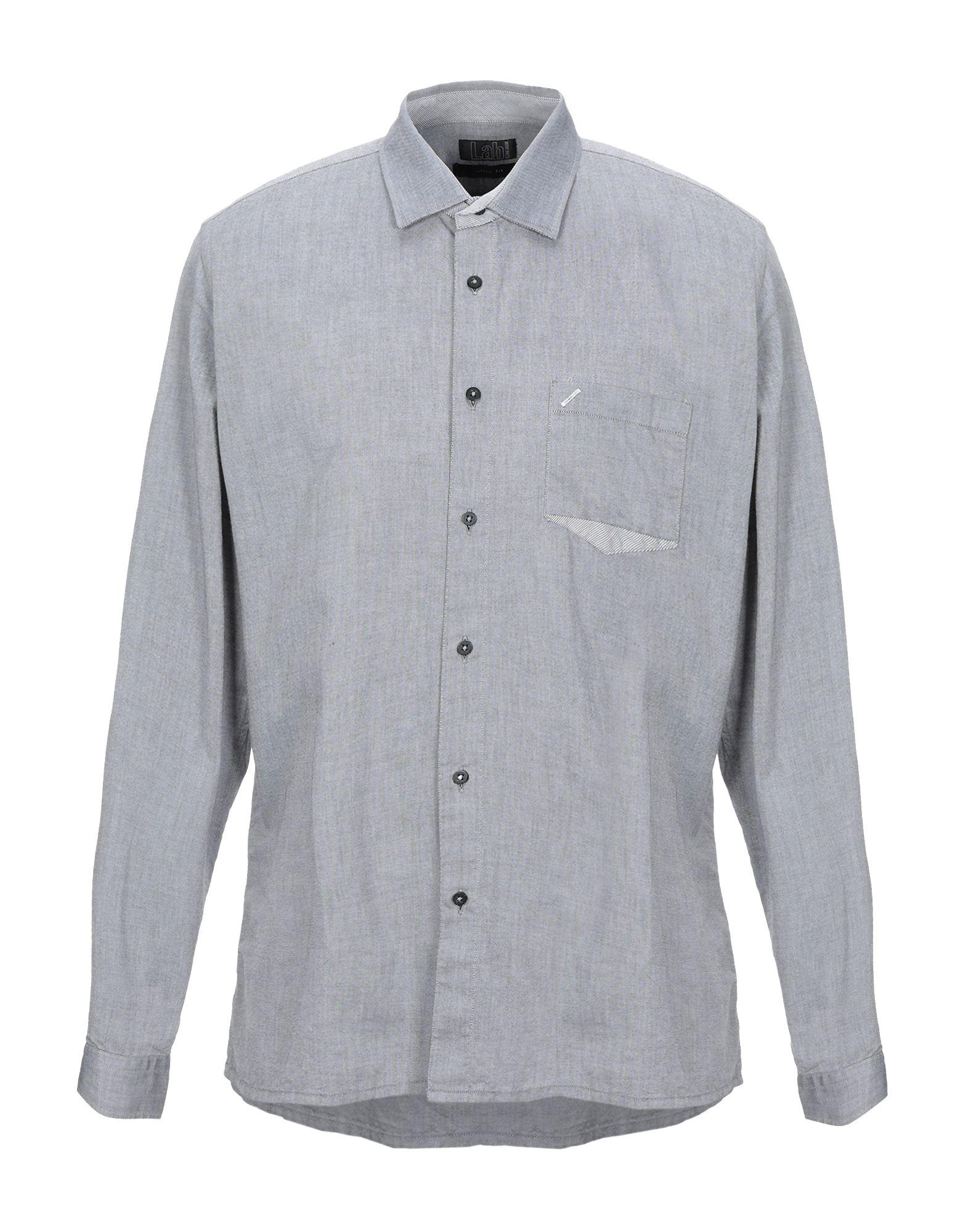 《セール開催中》LAB. PAL ZILERI メンズ シャツ グレー 41 コットン 100%
