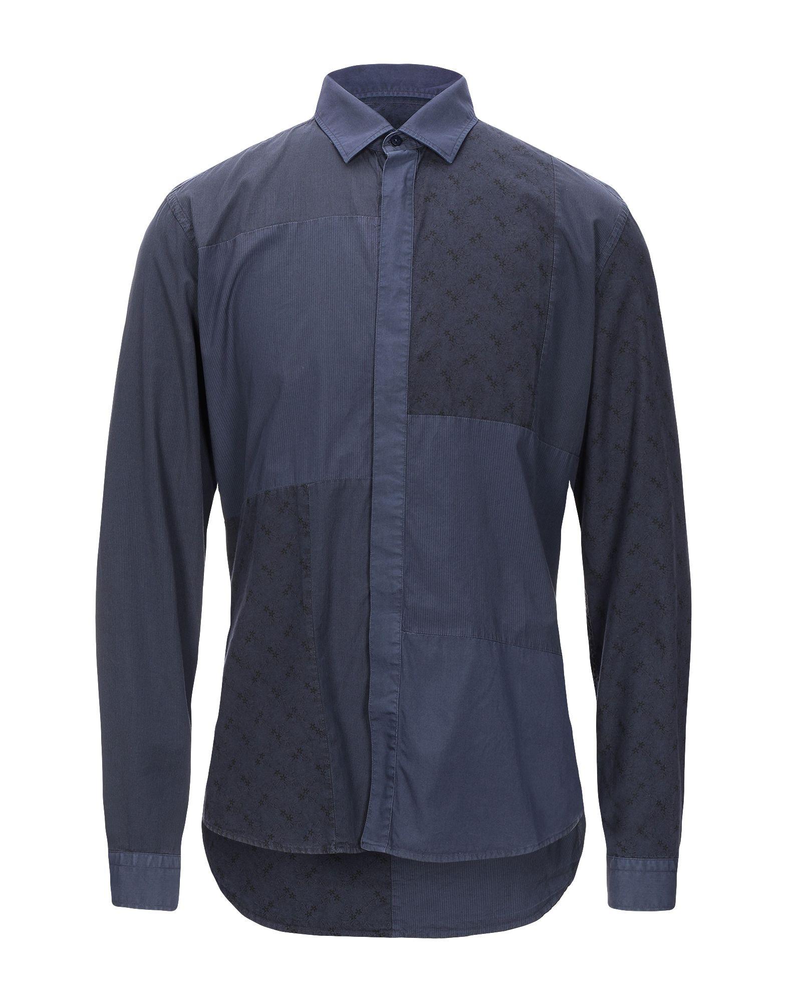 《セール開催中》LAB. PAL ZILERI メンズ シャツ ダークパープル 41 コットン 100%