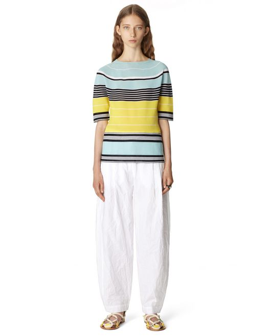 STRIPED COTTON TOP - Lanvin