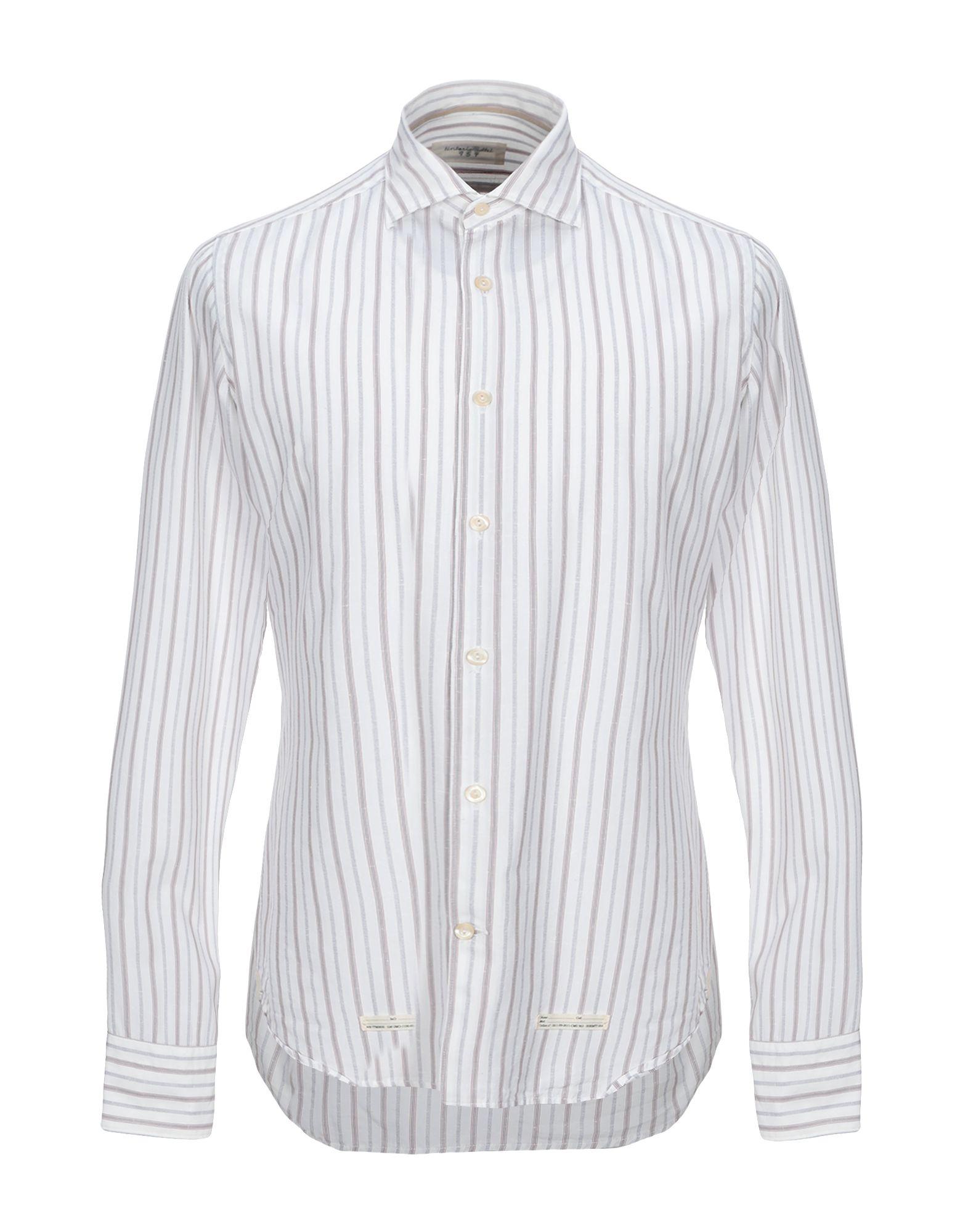 《セール開催中》TINTORIA MATTEI 954 メンズ シャツ アイボリー 39 コットン 100%