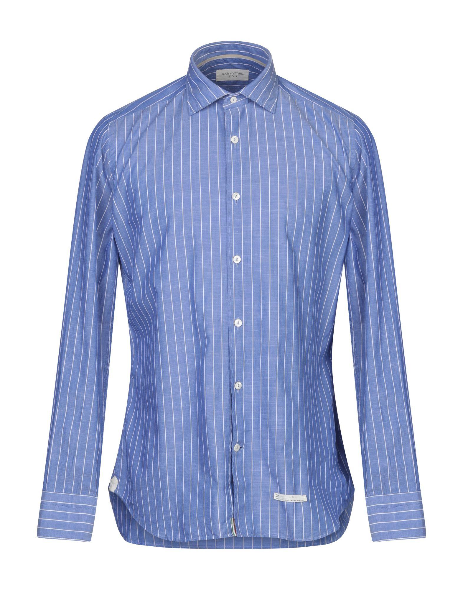 《セール開催中》TINTORIA MATTEI 954 メンズ シャツ ブルー 38 コットン 100%