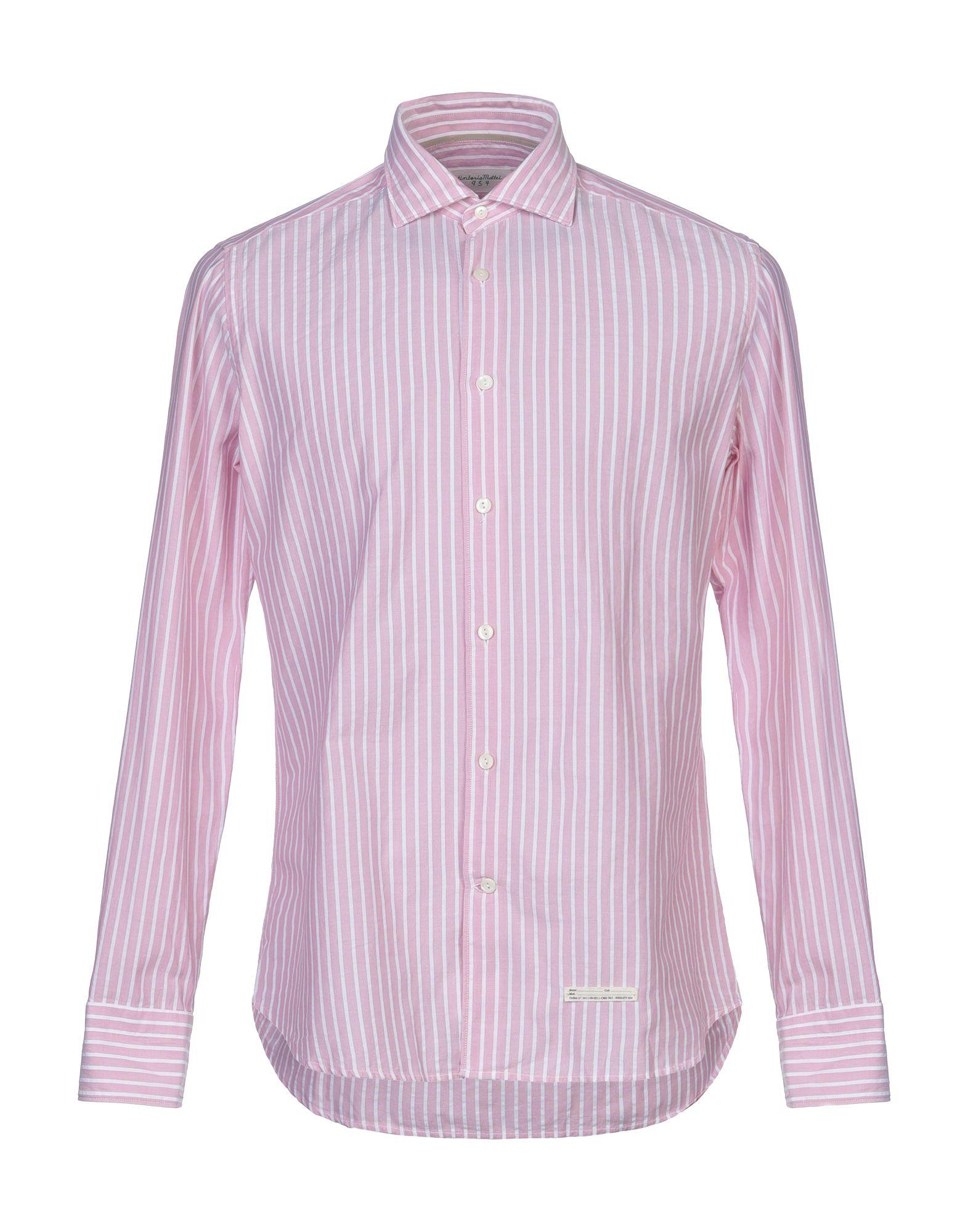 《セール開催中》TINTORIA MATTEI 954 メンズ シャツ ピンク 40 コットン 100%