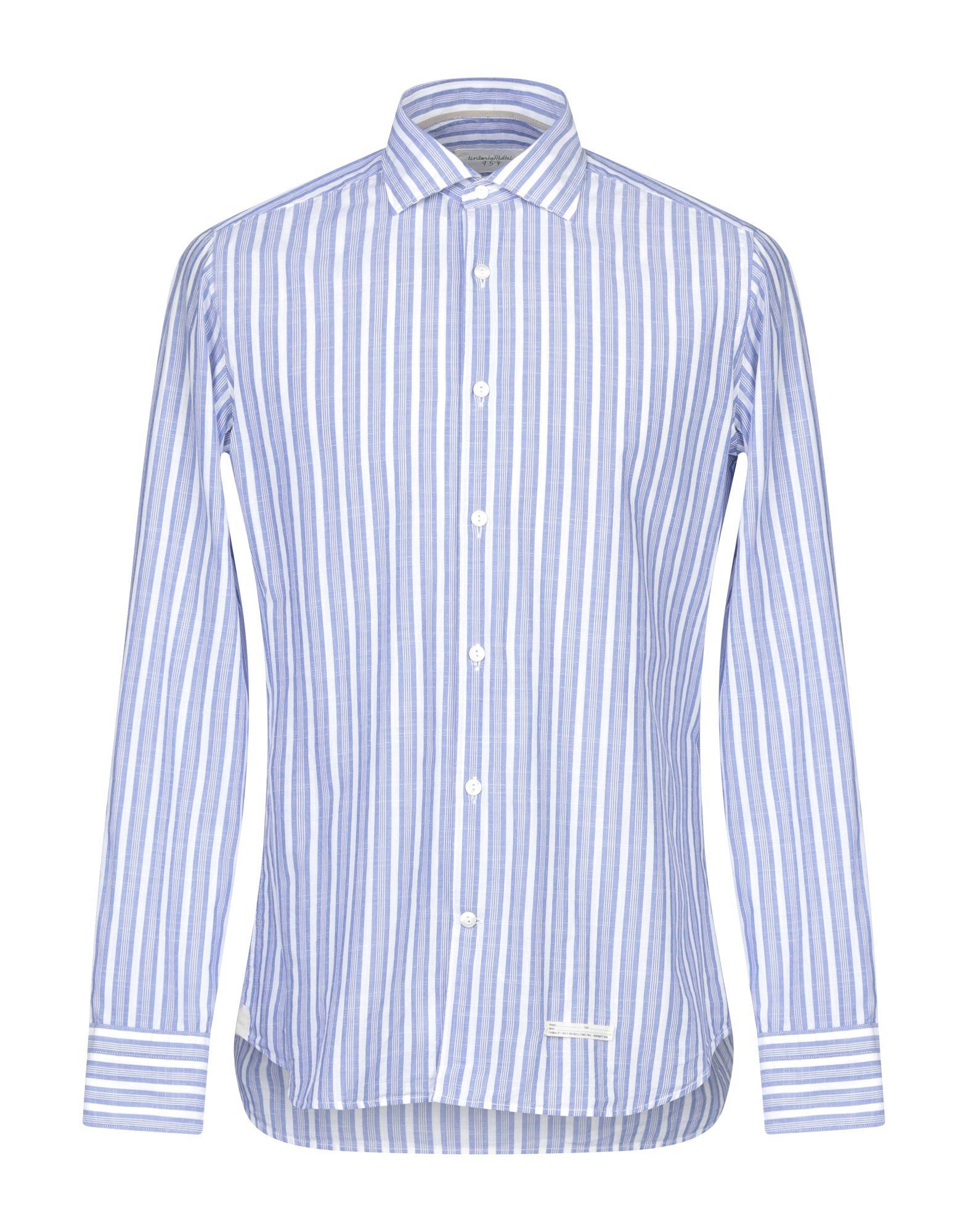 《セール開催中》TINTORIA MATTEI 954 メンズ シャツ ブルー 40 コットン 100%