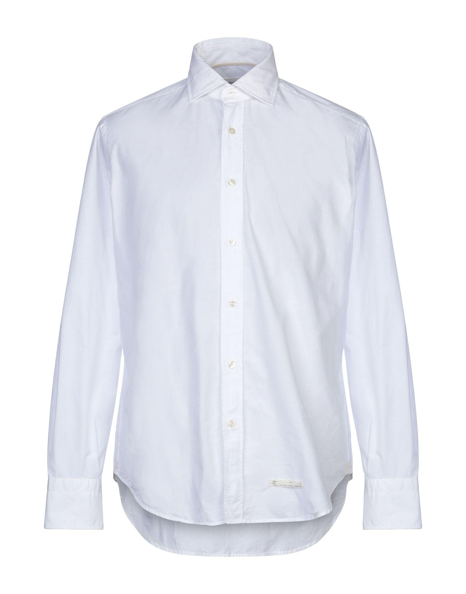 《セール開催中》TINTORIA MATTEI 954 メンズ シャツ ホワイト M コットン 100%