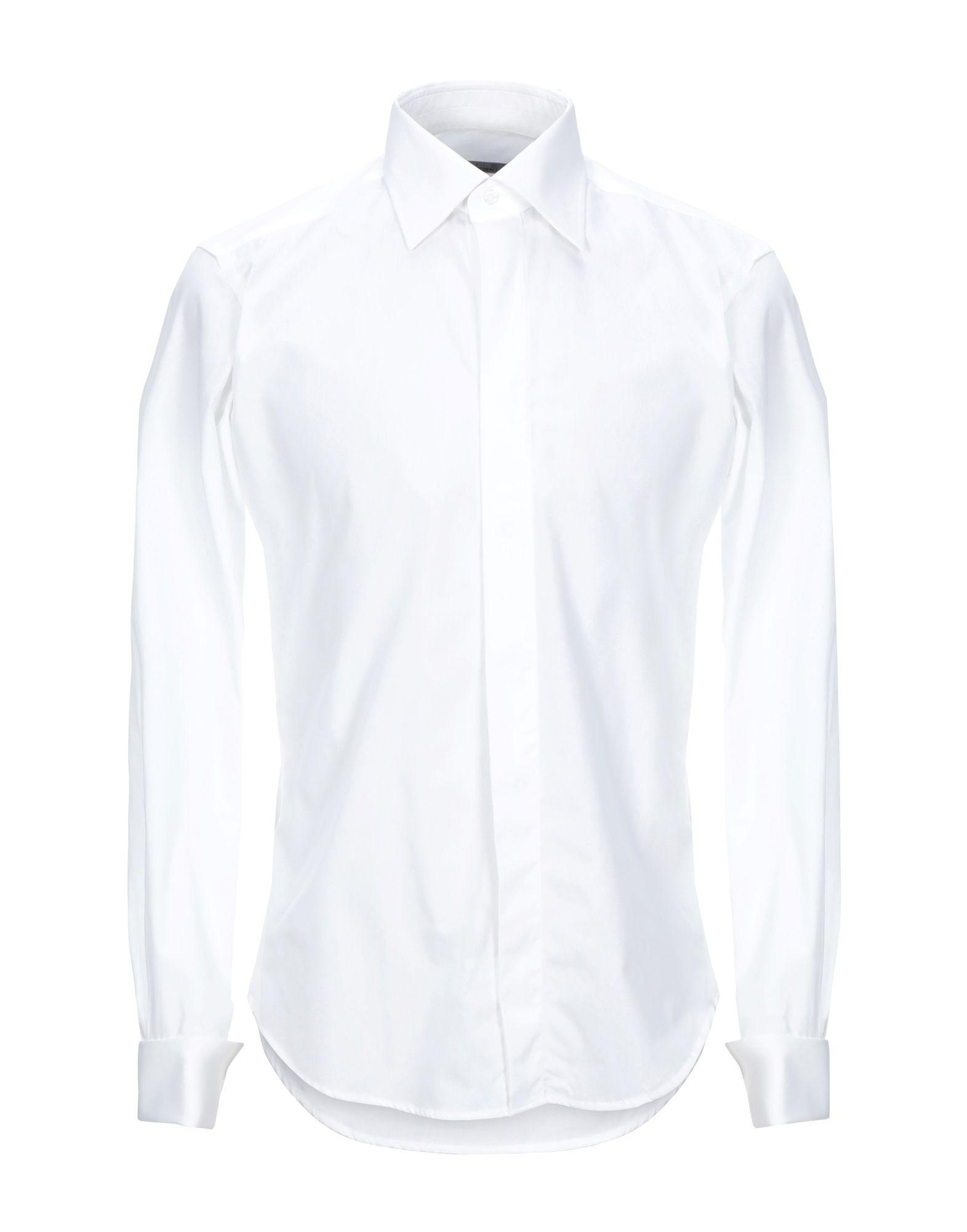 《セール開催中》PAL ZILERI CERIMONIA メンズ シャツ ホワイト 38 コットン 100%