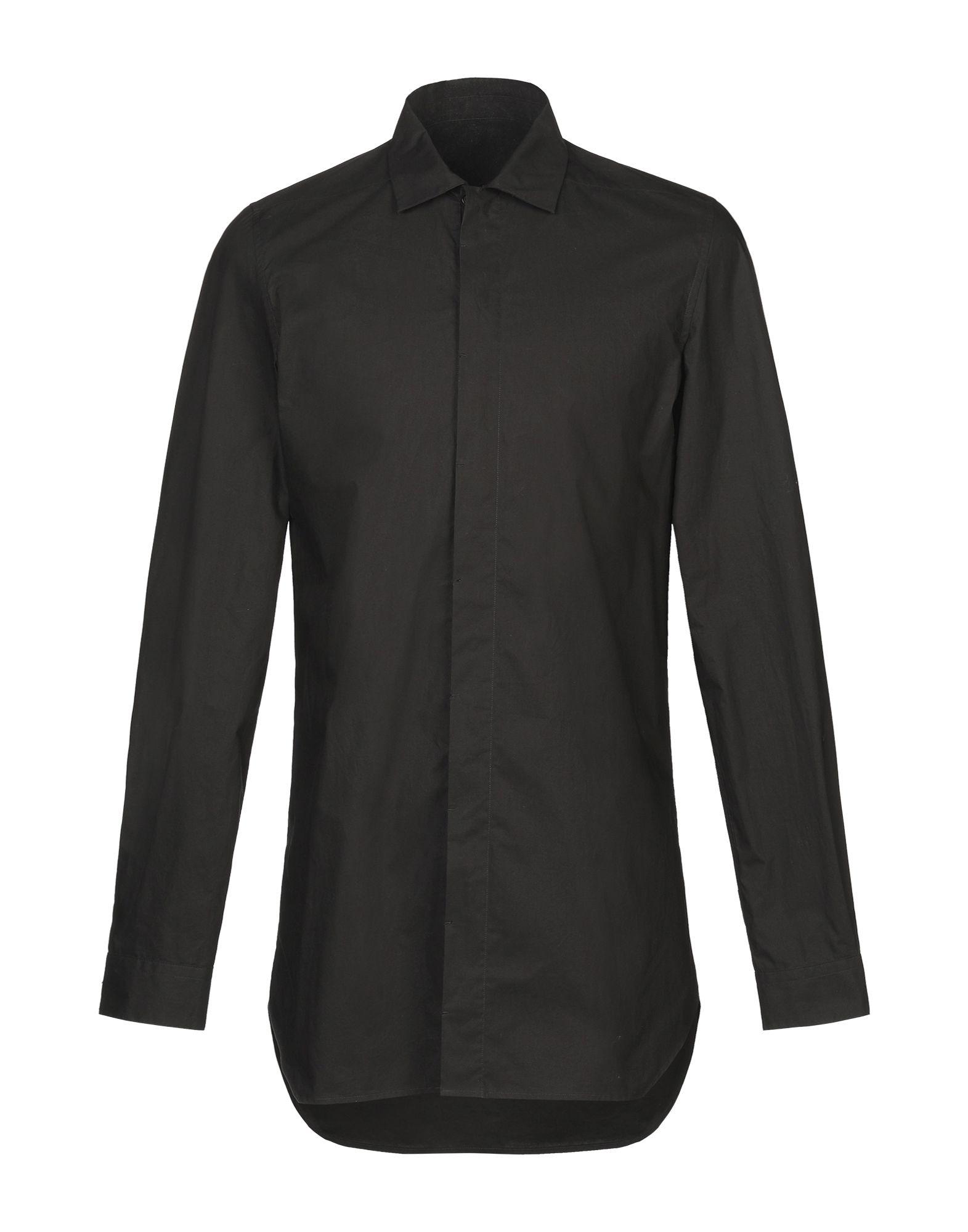 《セール開催中》RICK OWENS メンズ シャツ ブラック 48 コットン 100%