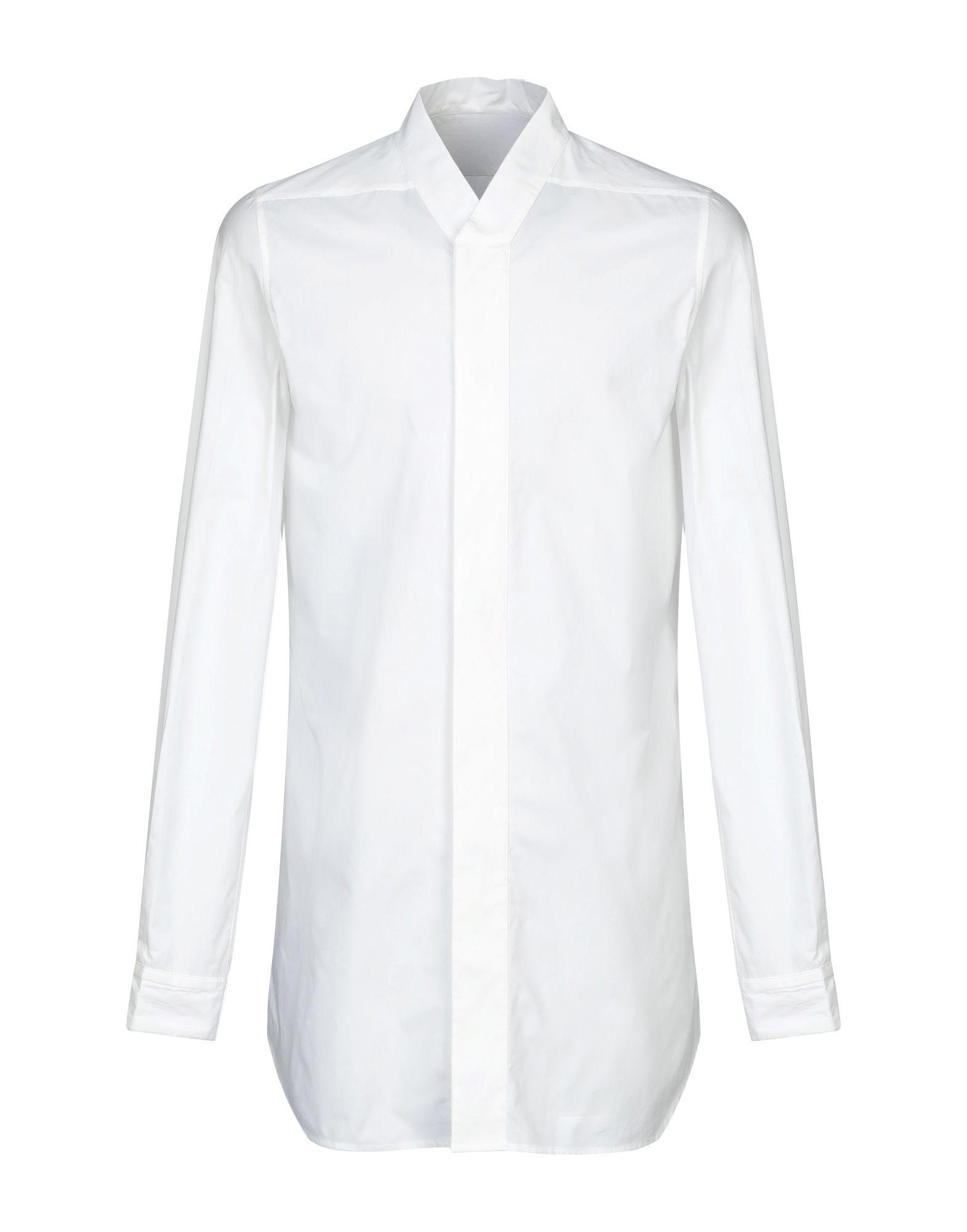 《セール開催中》RICK OWENS メンズ シャツ ホワイト 52 コットン 100%