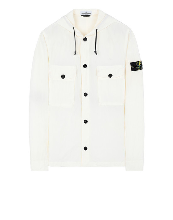 STONE ISLAND 12408 OVER SHIRT Man Ivory