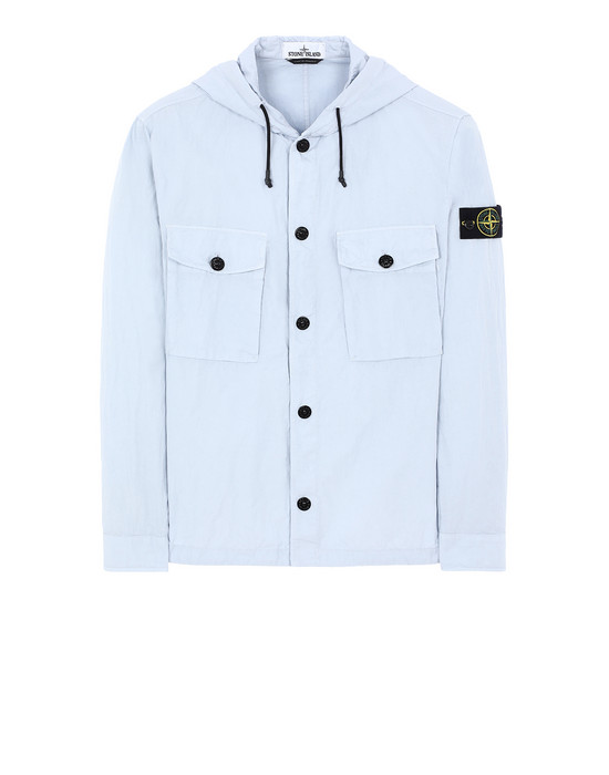 STONE ISLAND 12408 OVER SHIRT Man Baby Blue