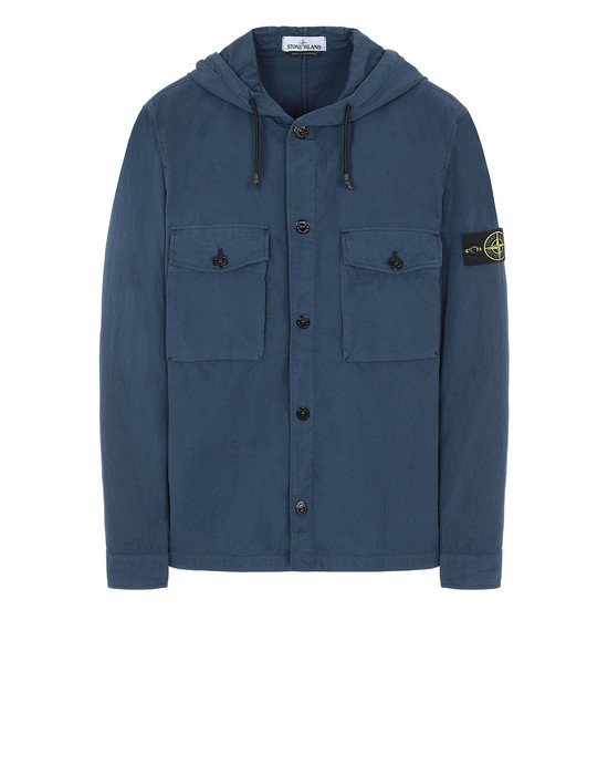 STONE ISLAND 12408 OVER SHIRT Man Marine Blue