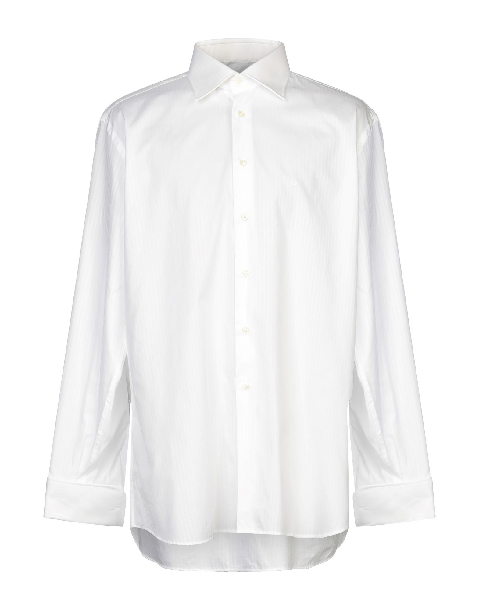 《セール開催中》UNGARO メンズ シャツ ホワイト 45 コットン 100%