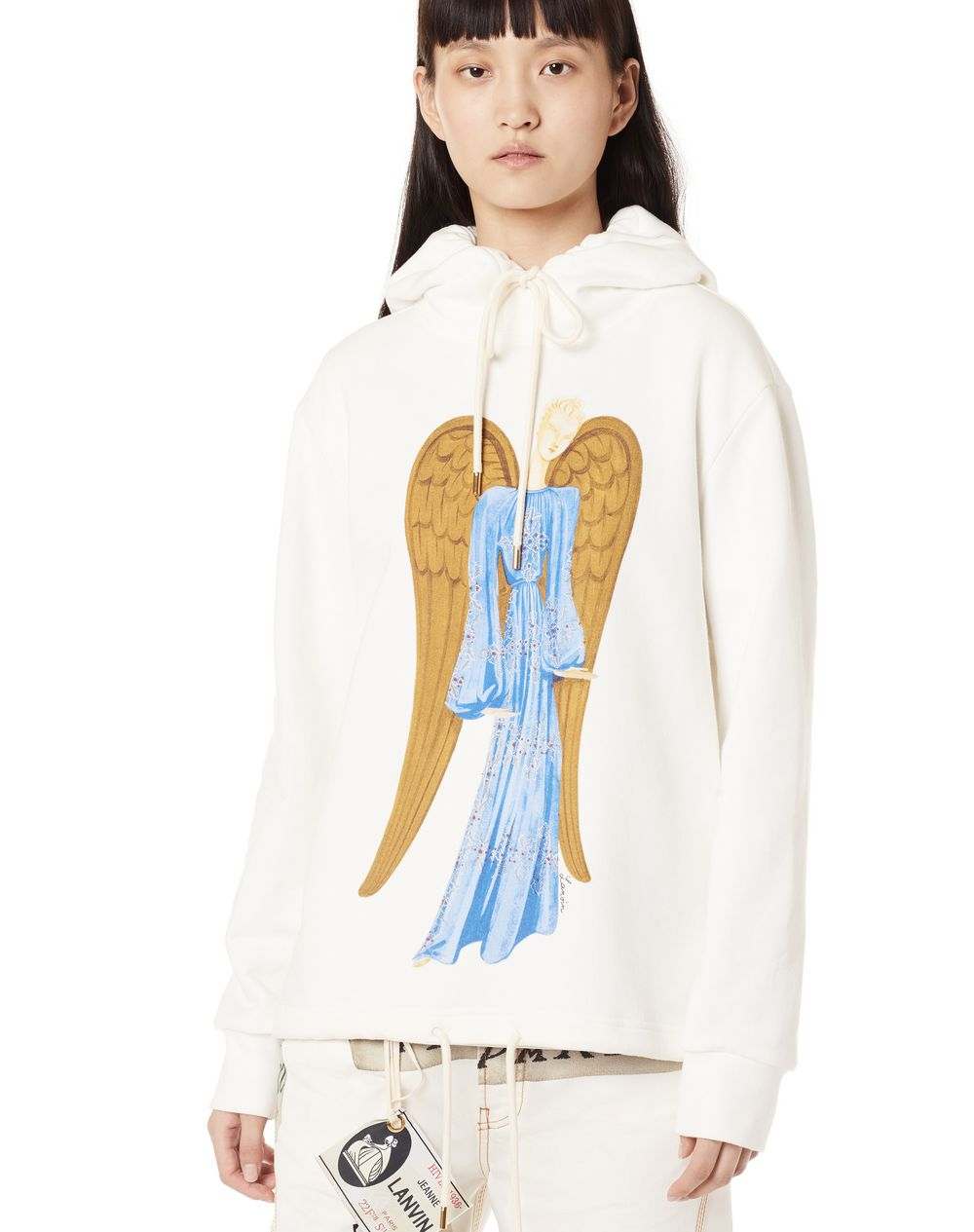 130 YEARS THE ANGEL PRINT HOODIE - Lanvin