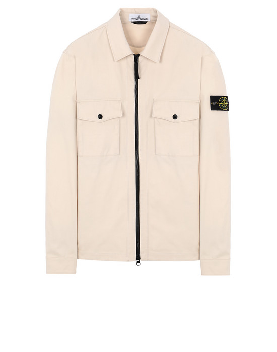 STONE ISLAND 11814 OVER SHIRT Man Beige