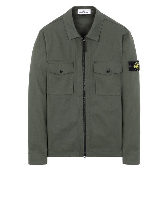 STONE ISLAND 11814 OVER SHIRT Man Olive Green