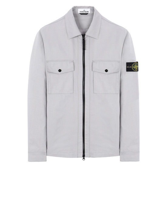 STONE ISLAND 11814 OVER SHIRT Man Dust Gray