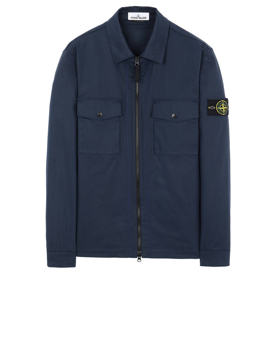 STONE ISLAND 11814 OVER SHIRT Man Marine Blue
