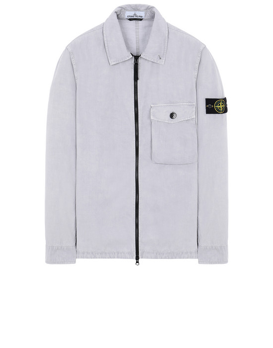 STONE ISLAND 114WN T.CO+OLD OVER SHIRT Man Dust Gray