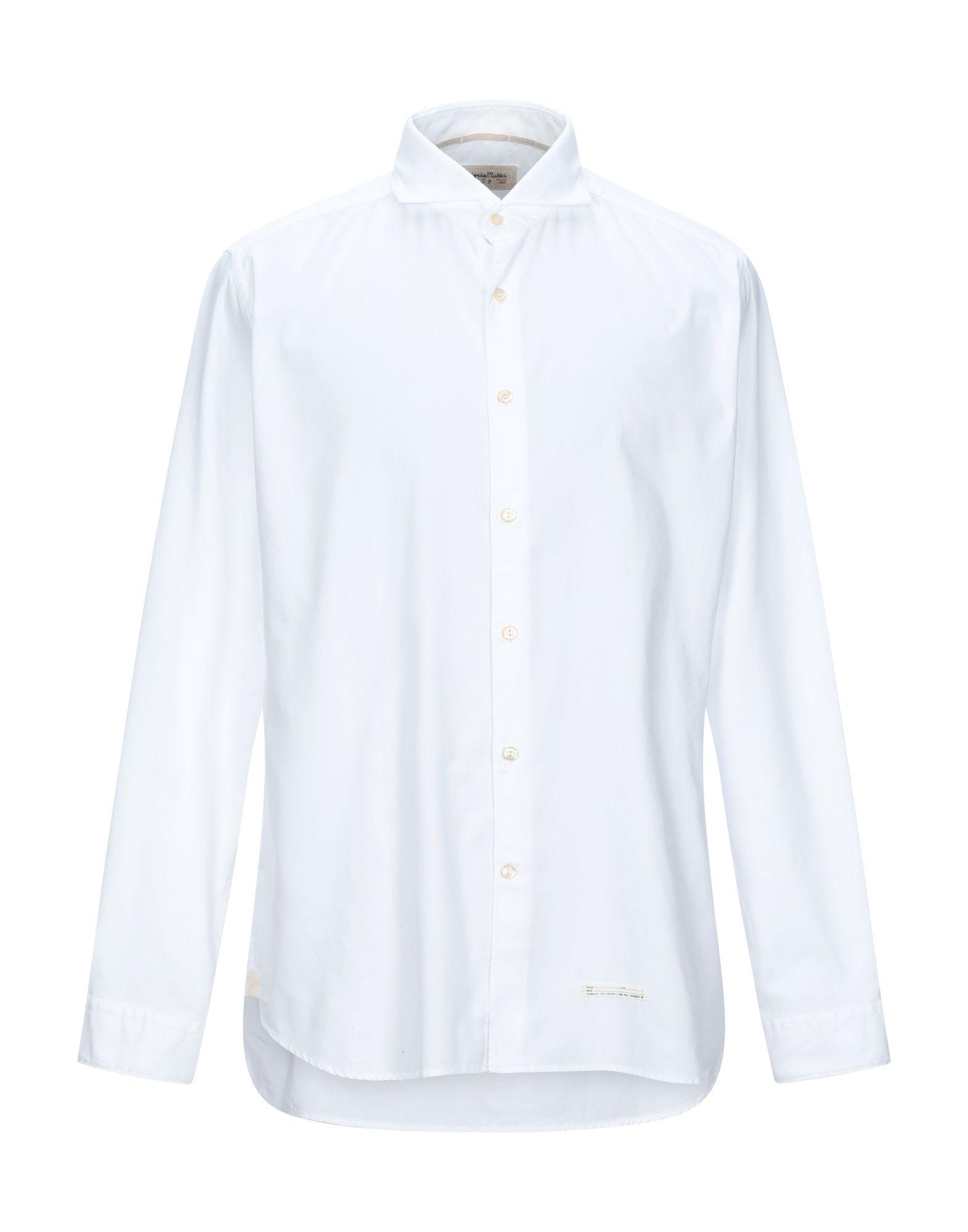 《セール開催中》TINTORIA MATTEI 954 メンズ シャツ ホワイト 43 コットン 100%