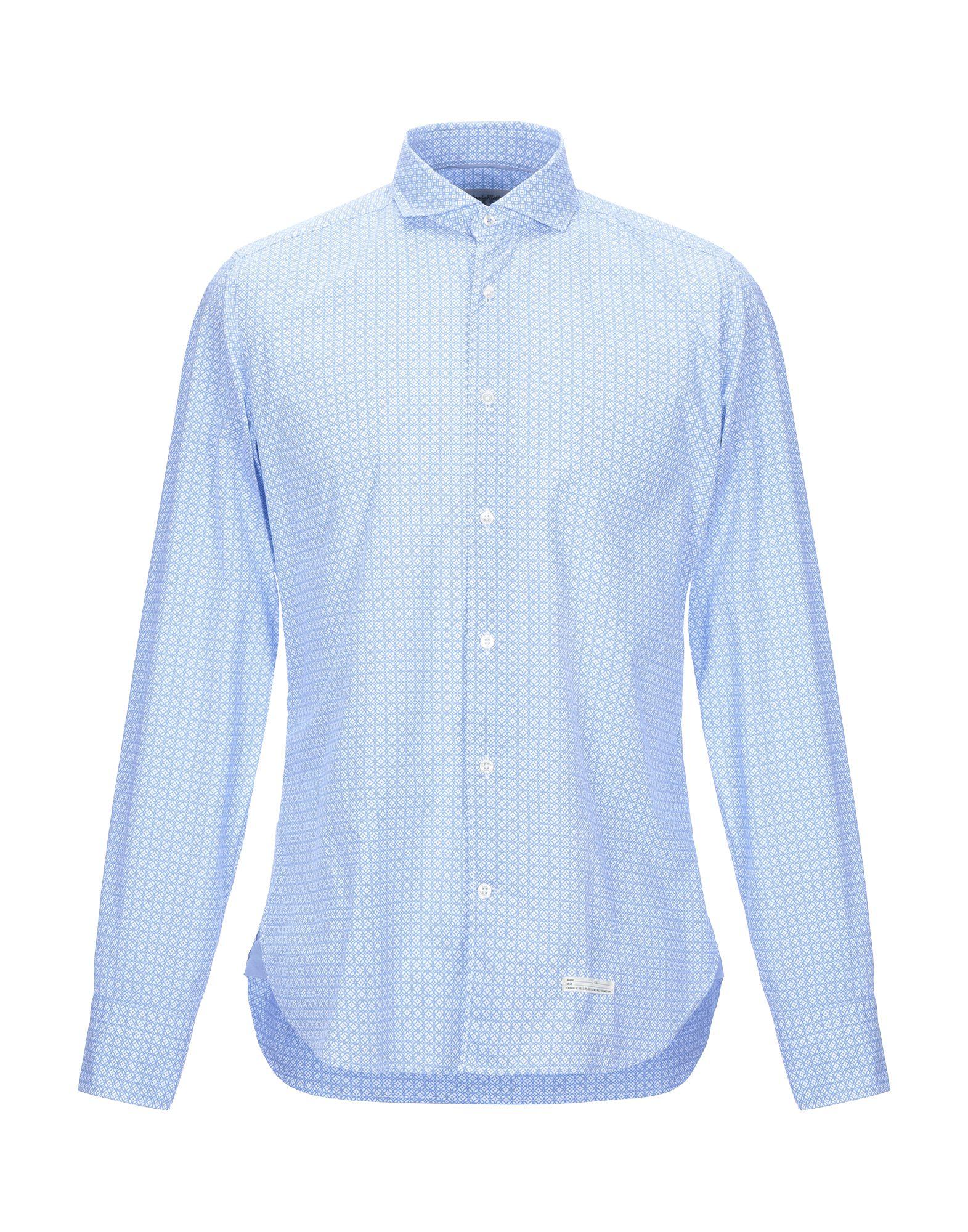 《セール開催中》TINTORIA MATTEI 954 メンズ シャツ アジュールブルー 38 コットン 100%