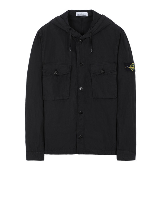 STONE ISLAND 12408 OVER SHIRT Man Black
