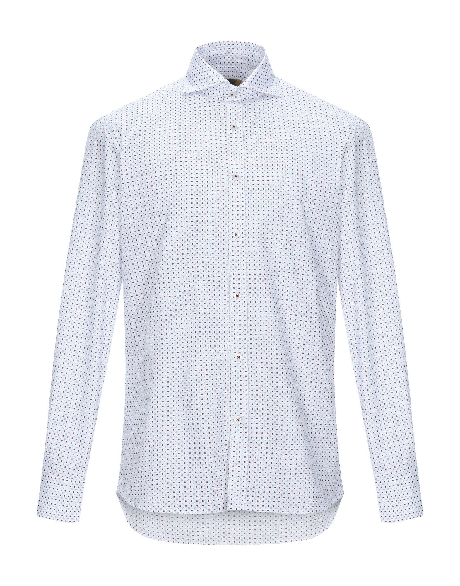 《セール開催中》ANDREA BORGHI メンズ シャツ ホワイト 39 コットン 100%