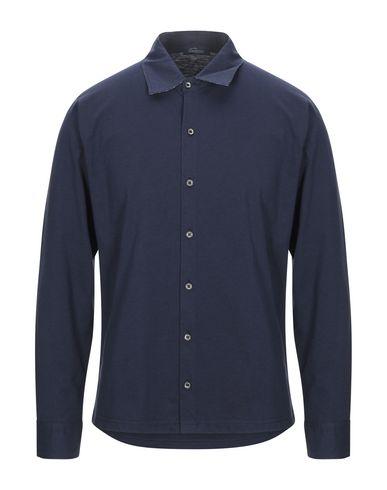 Фото - Pубашка от BLU CASHMERE темно-синего цвета