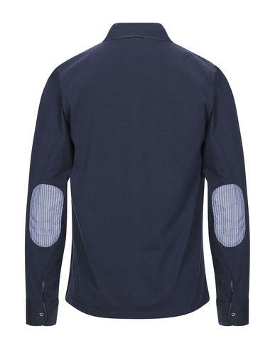 Фото 2 - Pубашка от BLU CASHMERE темно-синего цвета
