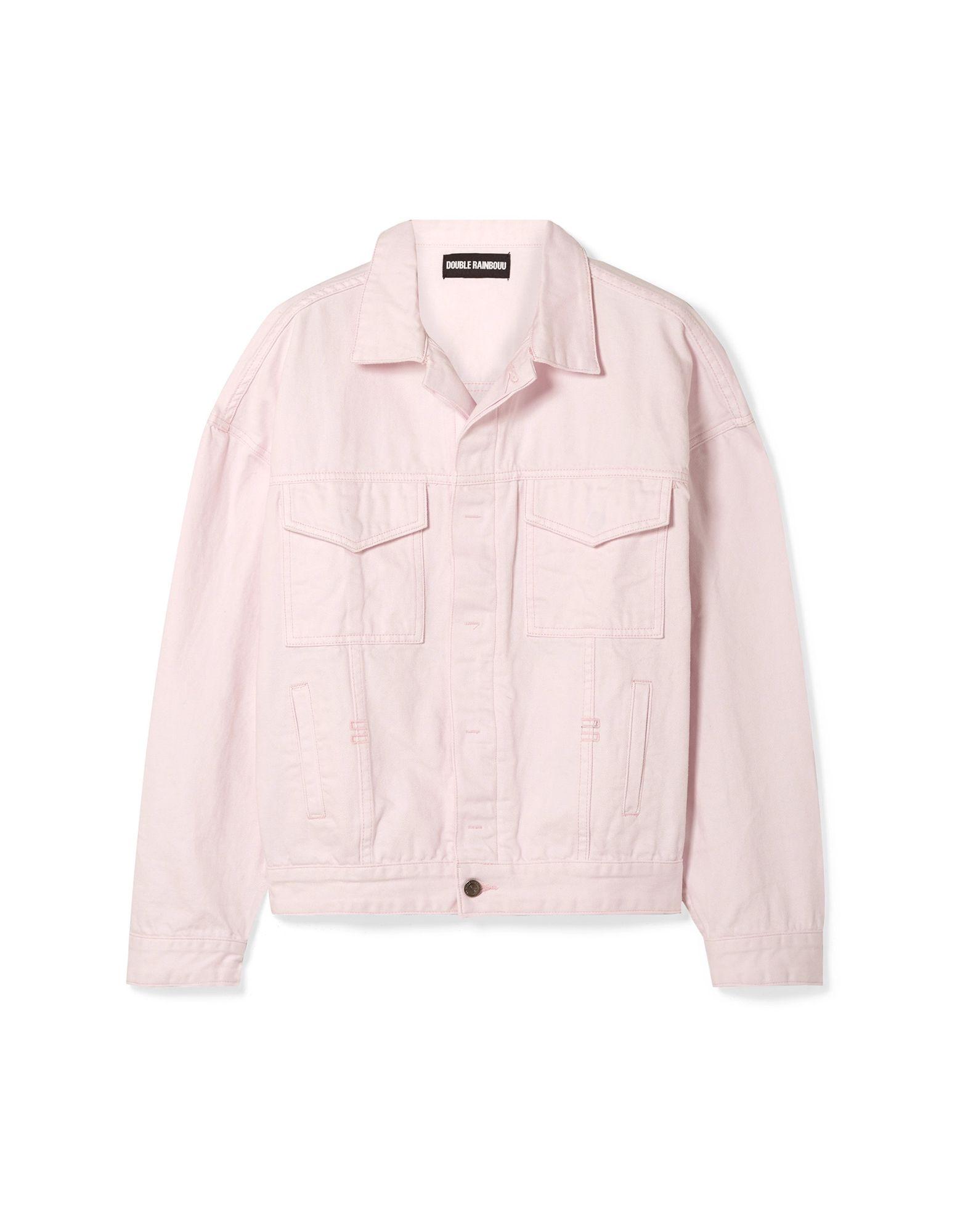 《セール開催中》DOUBLE RAINBOUU レディース シャツ ライトピンク XS コットン 100%