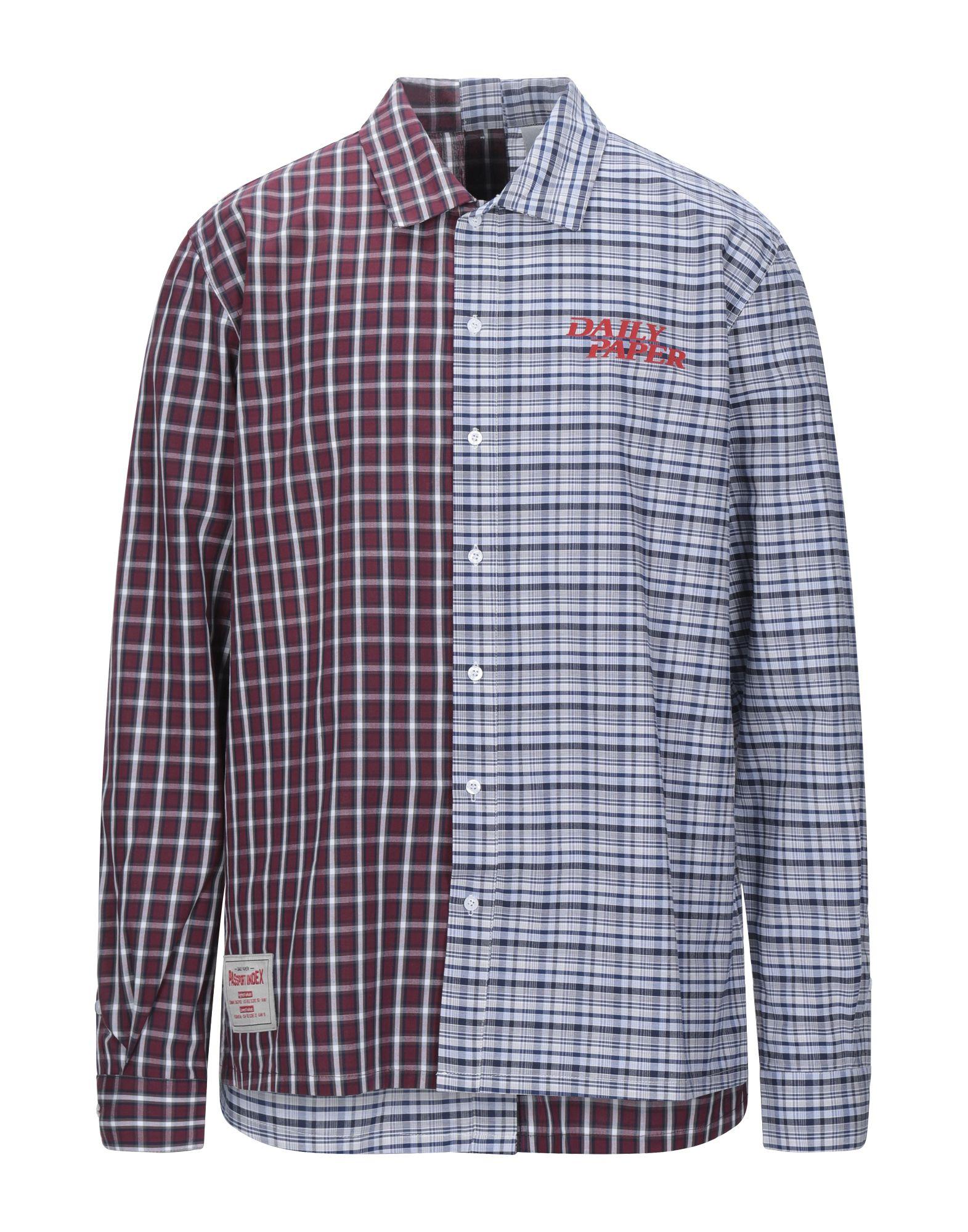 《セール開催中》DAILY PAPER メンズ シャツ ブルー M コットン 100%