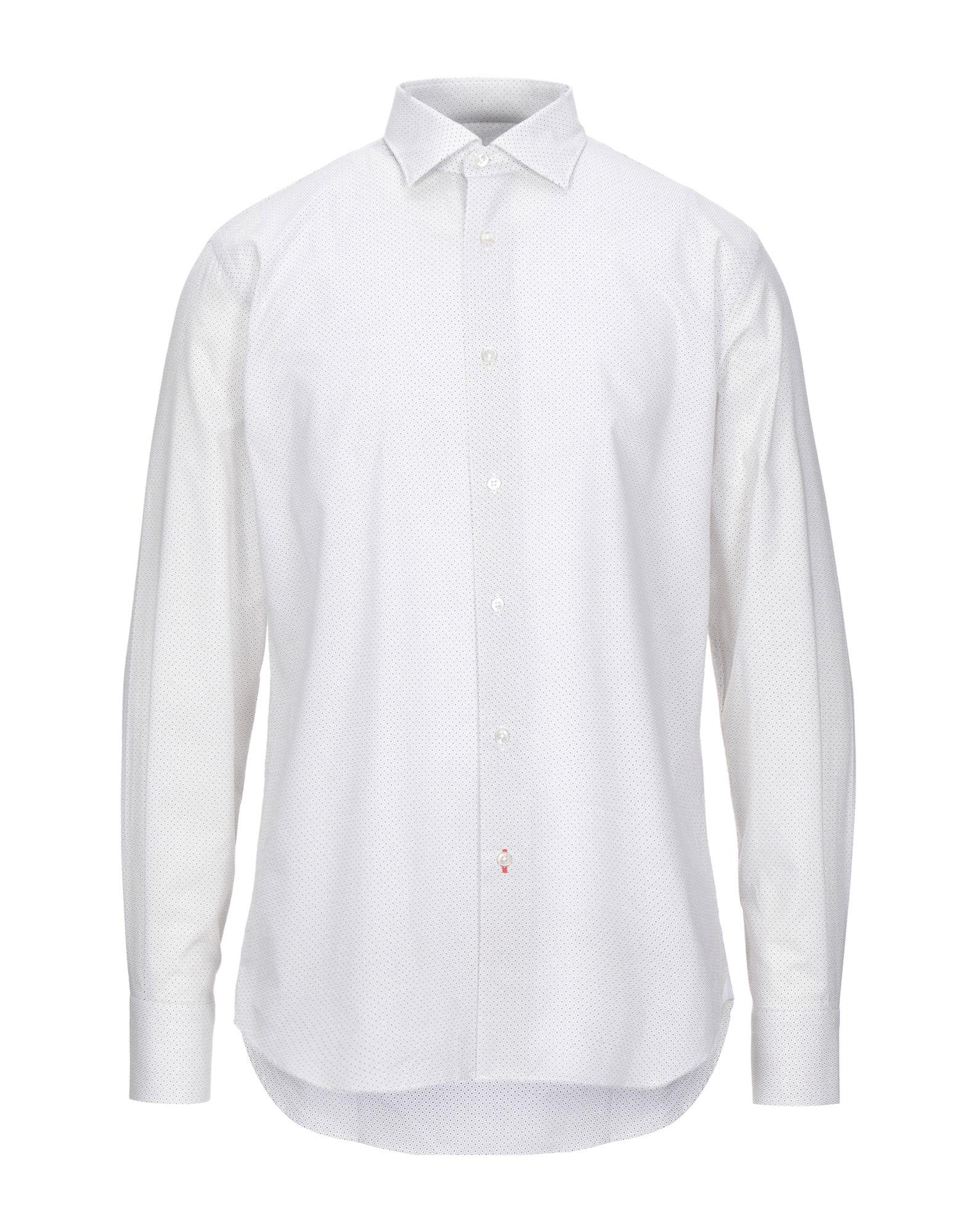 《セール開催中》DE PASQUALE メンズ シャツ ベージュ 41 コットン 100%