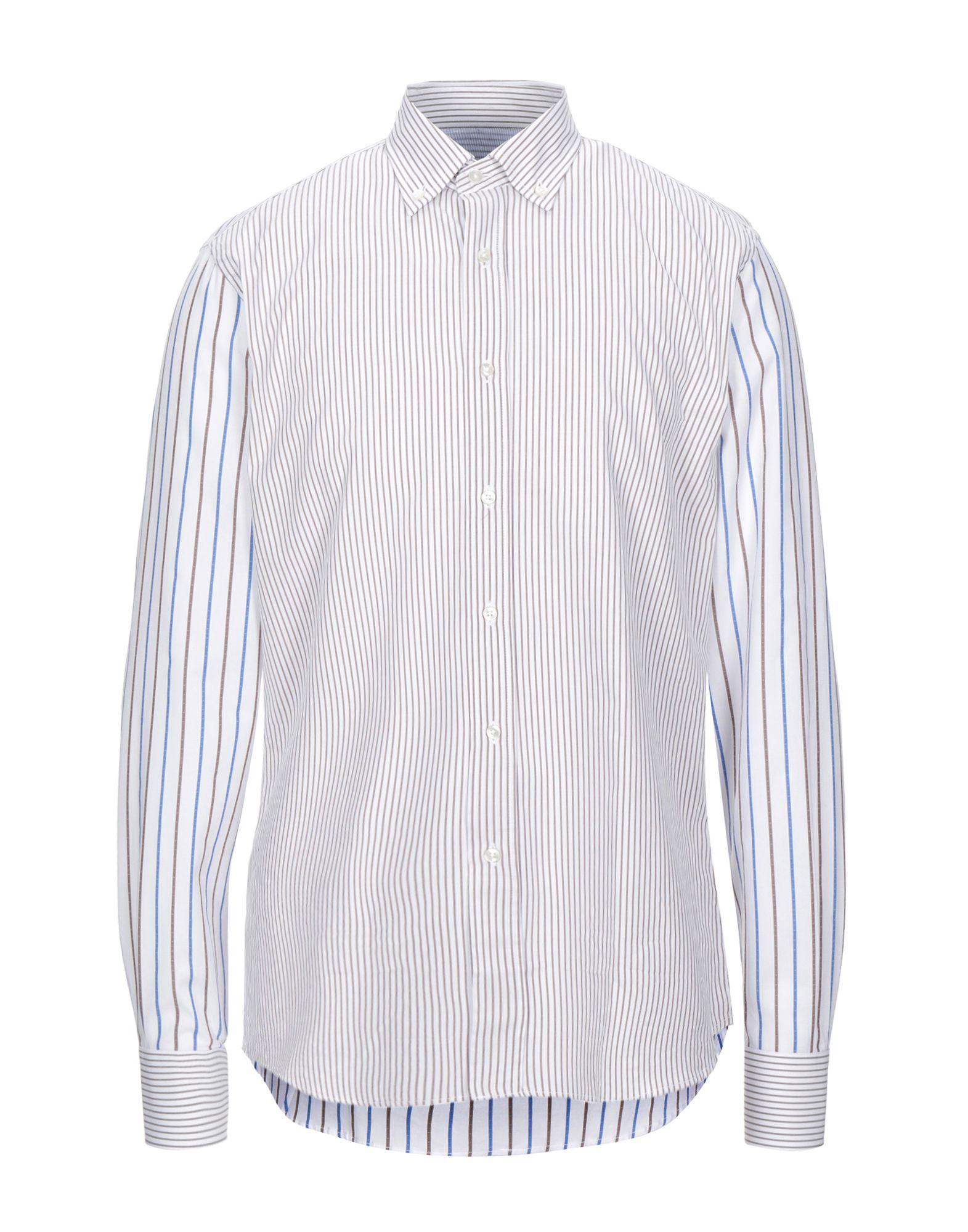 《セール開催中》DE PASQUALE メンズ シャツ ドーブグレー 41 コットン 100%