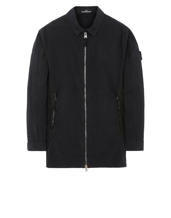 STONE ISLAND SHADOW PROJECT 10117 FLANK POCKET ZIP SHIRT Langarmhemd Herr Schwarz