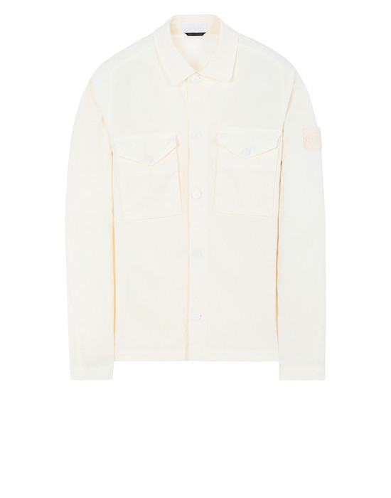 STONE ISLAND 123F2 GHOST PIECE  OVER SHIRT Man Natural White