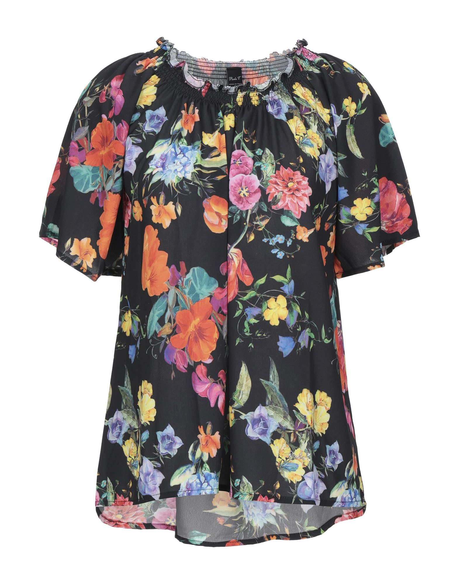 PAOLA T. Блузка блузка paola klingel цвет фиолетовый рисунок