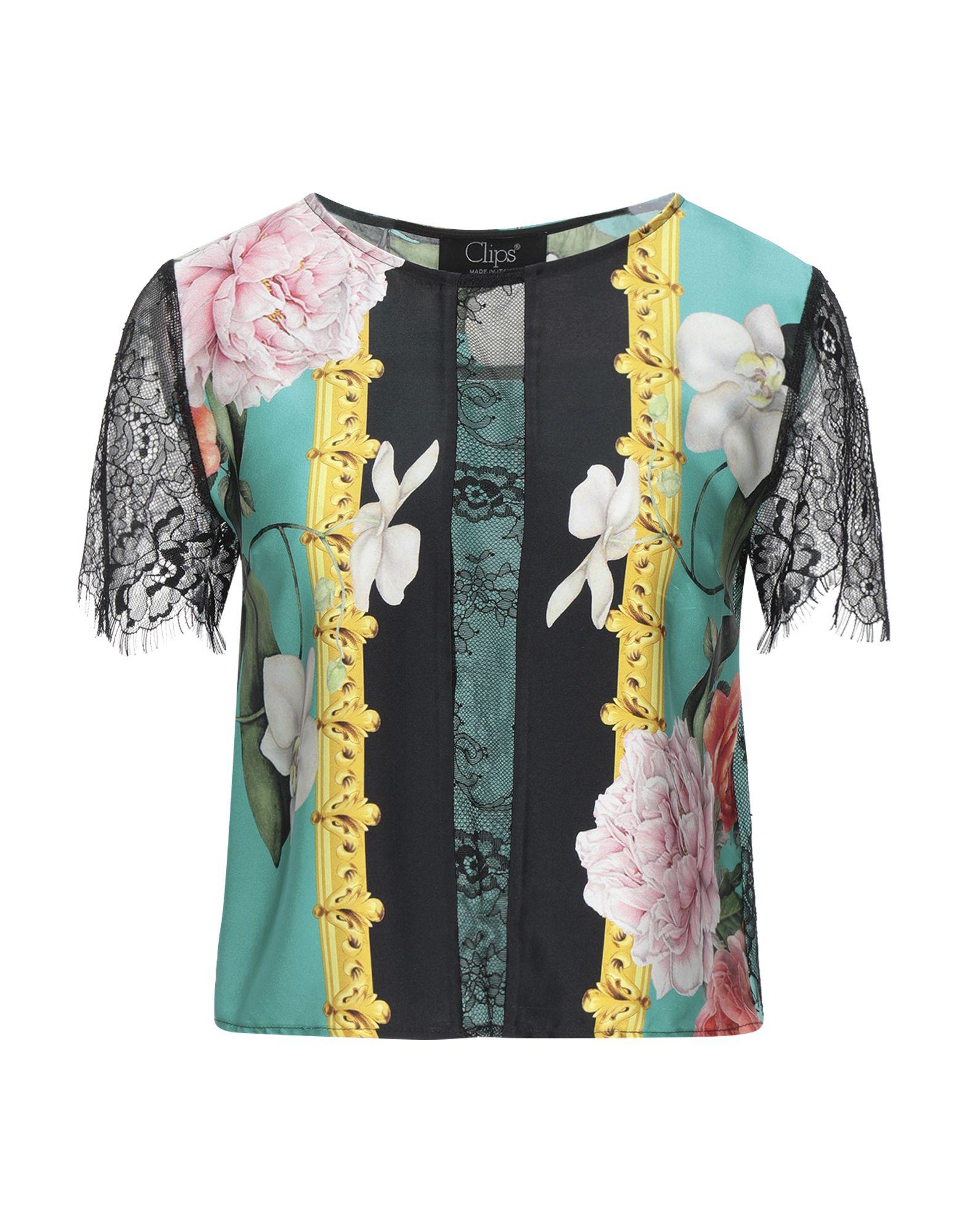 CLIPS Блузка шифоновая блузка в цветочный принт