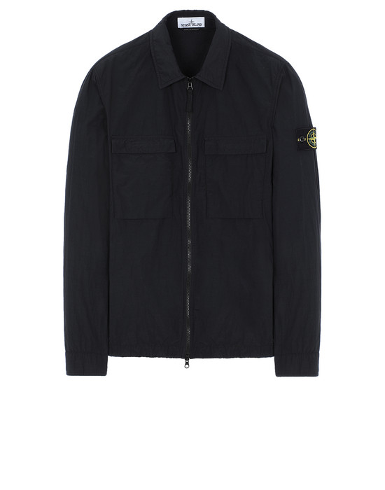 STONE ISLAND 11102 NASLAN LIGHT OVER SHIRT Man Black