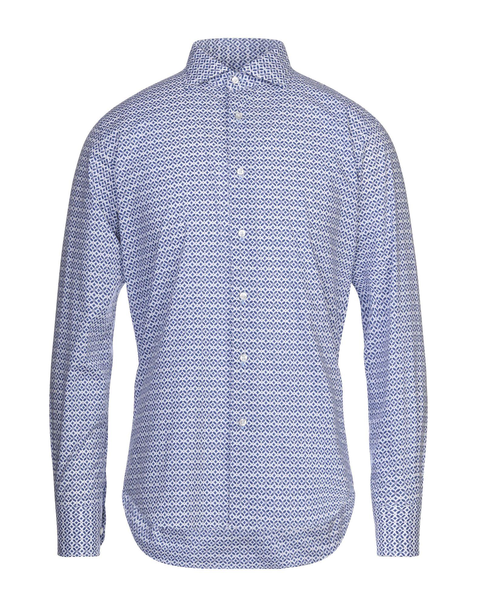 《セール開催中》ENZO FELDINI メンズ シャツ ブルー 40 コットン 100%